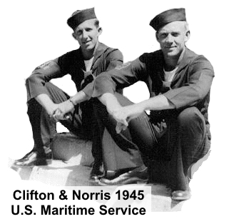 Clifton and Norris Chambers in 1945, U.S. Maritime Service