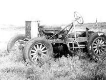 Author's strip-down Model T tractor